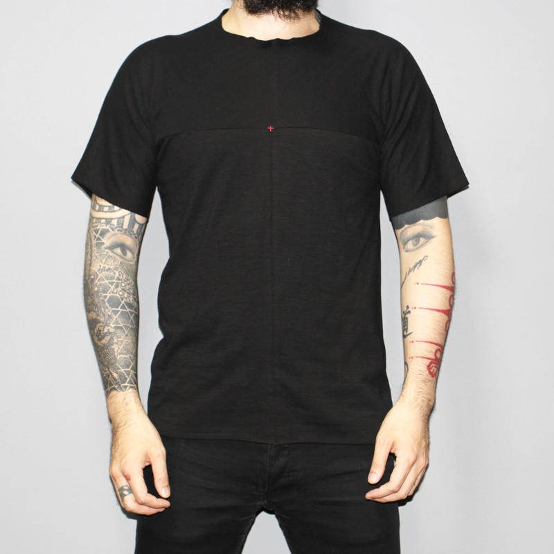 M.A+ by Maurizio amadei / Front cross one piece T-shirt