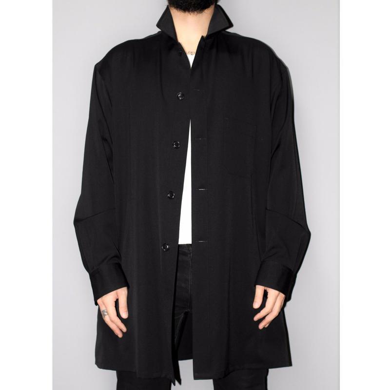 Yohji yamamoto pour homme / 18SS Oversized wool gabardine shirt
