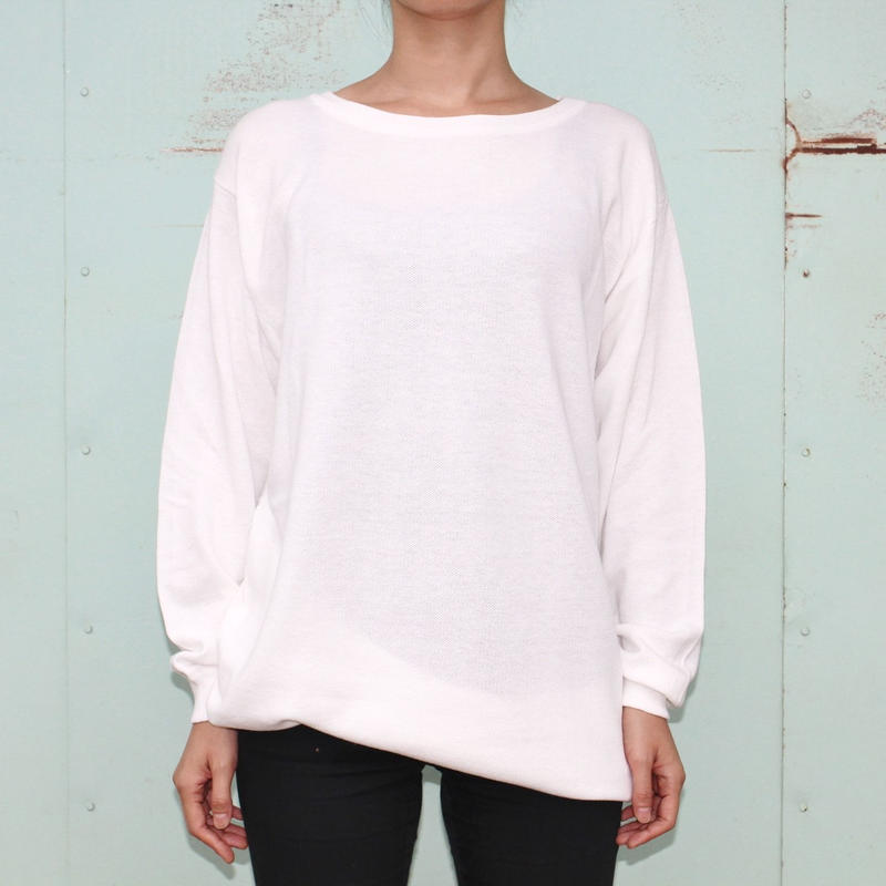 "the Sakaki / the Bang / Long sleeve Uneck ""編み物""(Amimono/ Knit)--WHITE--"