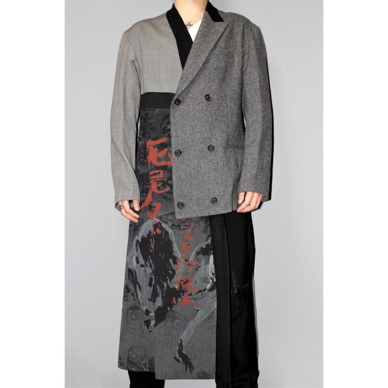Yohji yamamoto pour homme / 18AW Asymmetric long jacket coat