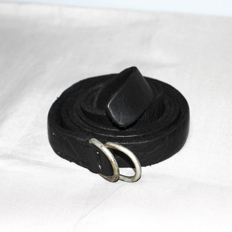 GUIDI / Double ring long belt