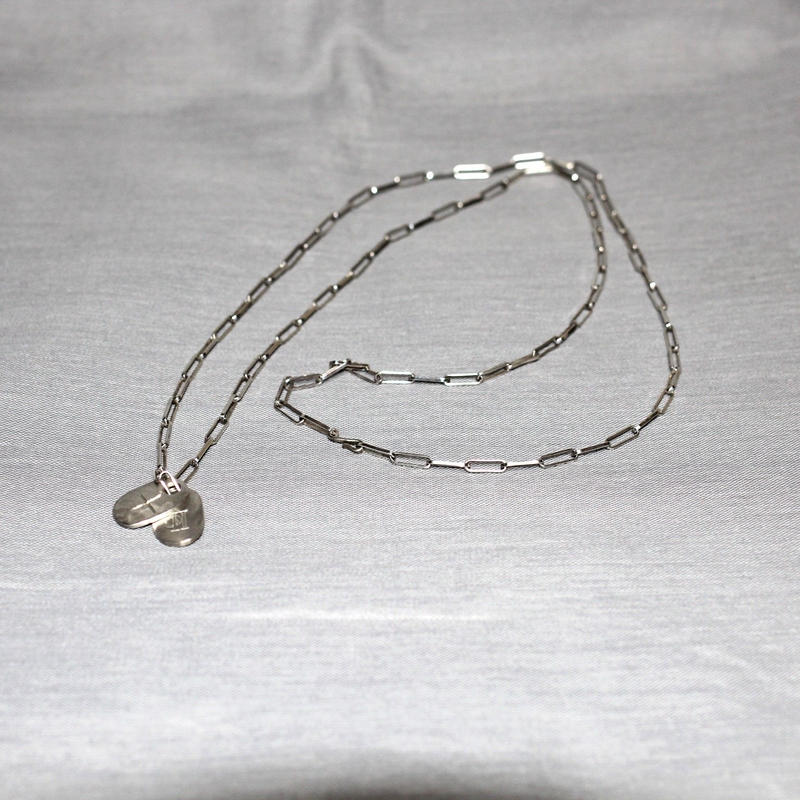 M.A+ by Maurizio amadei / Silver tags necklace