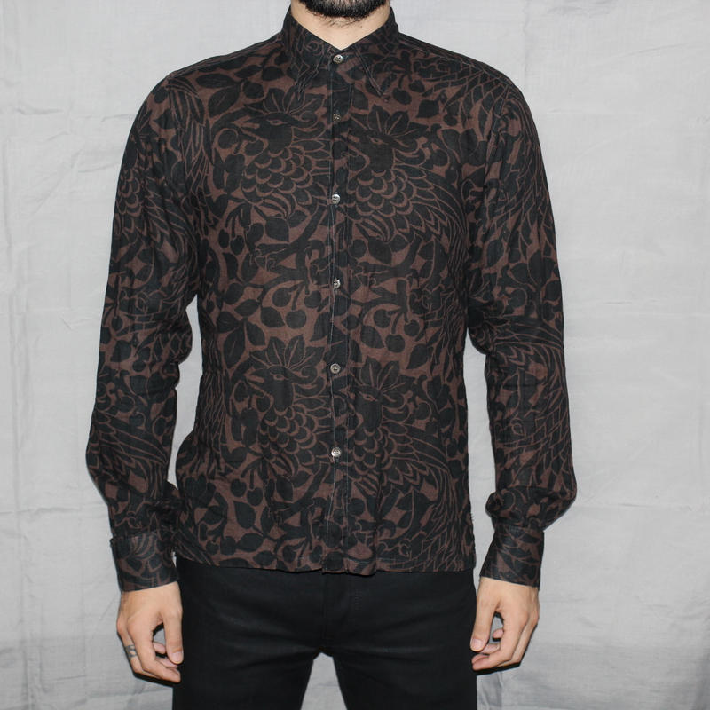 DRIES VAN NOTEN Bird print shirt