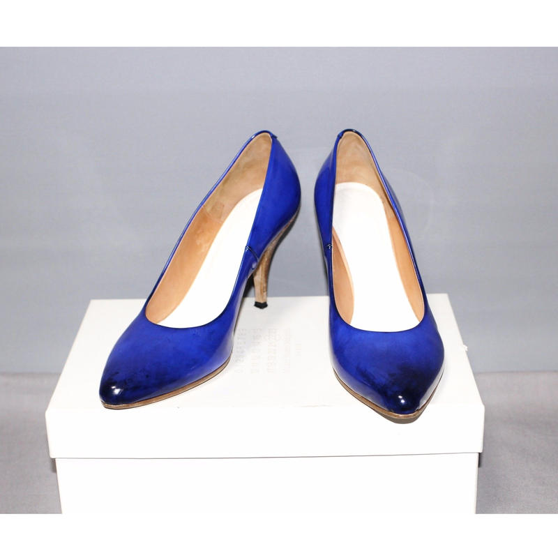 Maison Margiela 22 / Leather blue 8cm Pumps