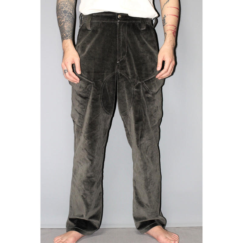 AFFIX WORKS / Grey velvet service pants