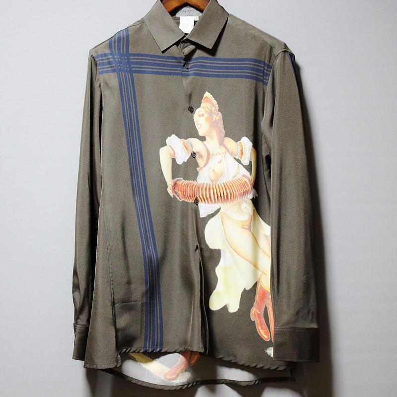 Yohji yamamoto pour homme / 2001 Girls print shirt