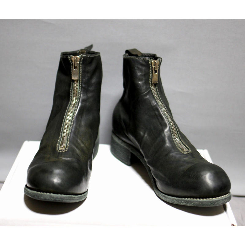 GUIDI / 18SS PL1 Front zip boots