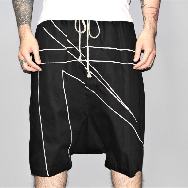SS16 Rick owens / Embroidered Line Rick's Pod shorts