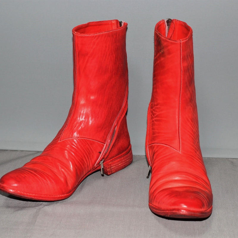 CAROL CHRISTIAN POELL / O.D Diagonal Goodyear zip boots /  2016
