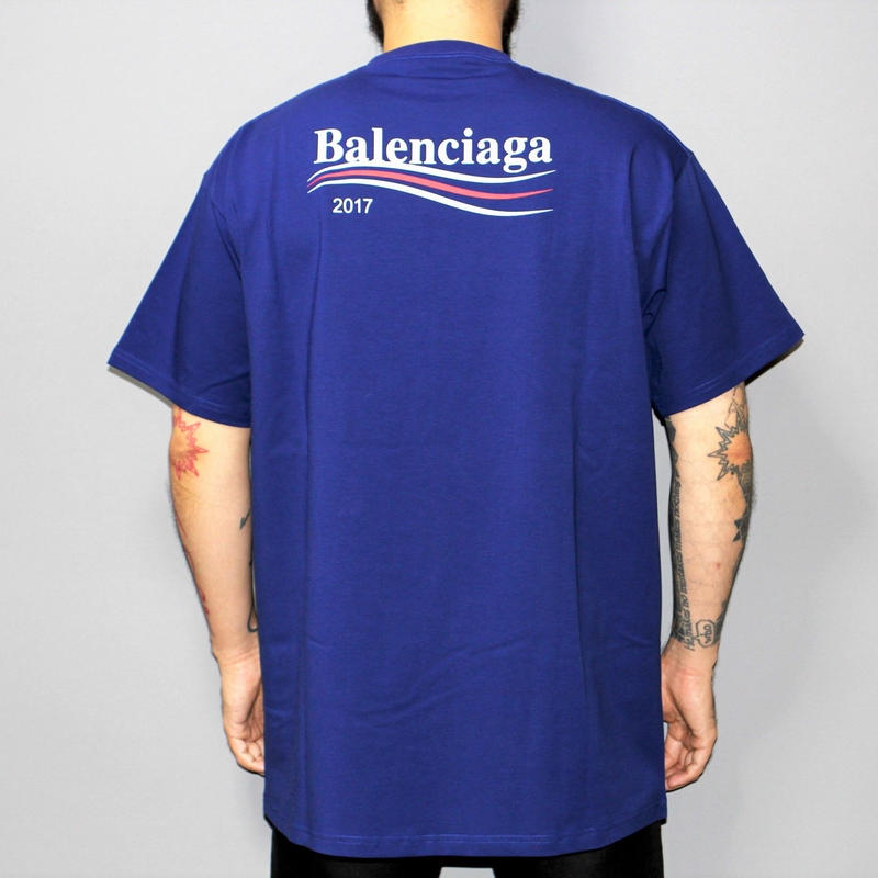 17AW BALENCIAGA  / Over sized logo T-shirt