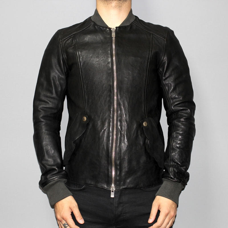 Layer-0 x GUIDI / Horse leather bomber jacket