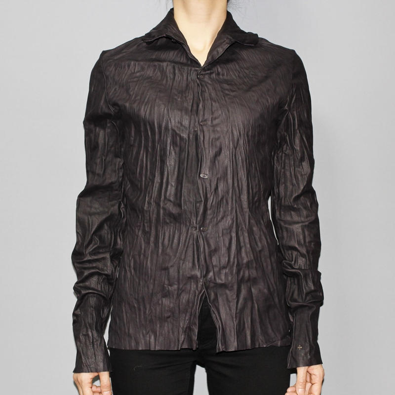 M.A+ by Maurizio amadei / Washable leather shirt (For Men's)