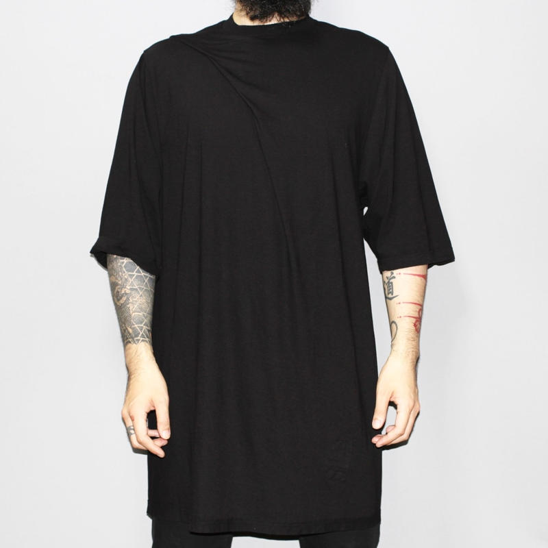 DRKSHDW by Rick owens / Front drape oversized T-shirt