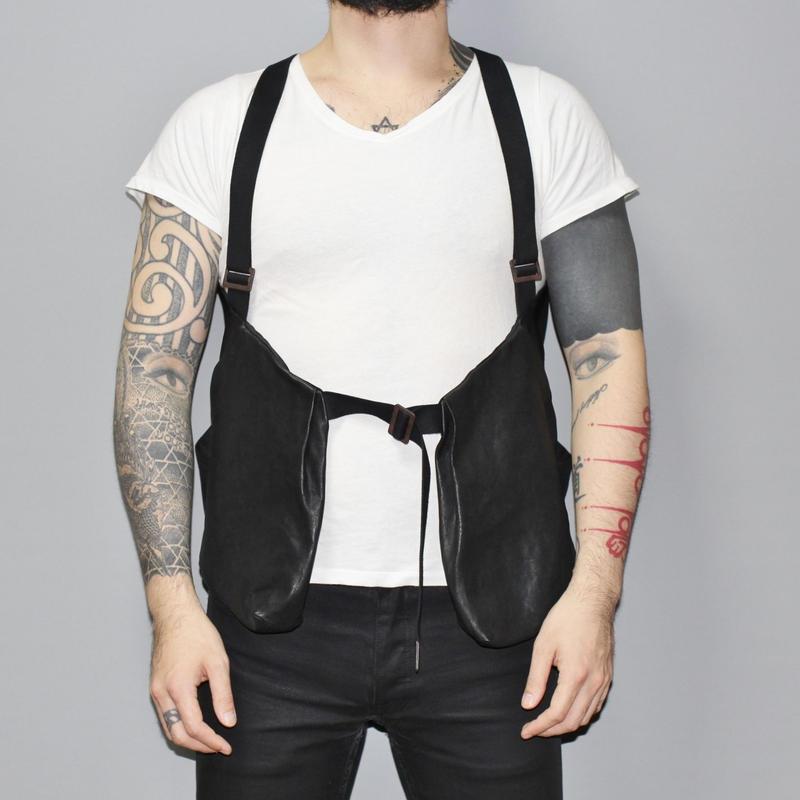 BORIS BIDJAN SABERI / SS15 Kangaroo leather vest bag