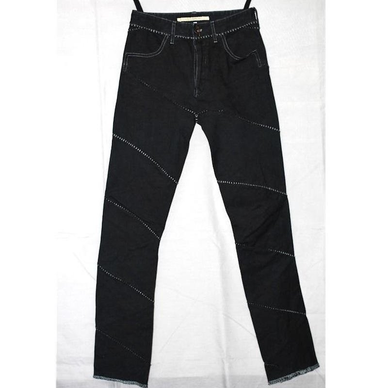 CAROL CHRISTIAN POELL / FW11 OBJECT DYED OVERLOCK 4 POCKET SPIRAL JEANS