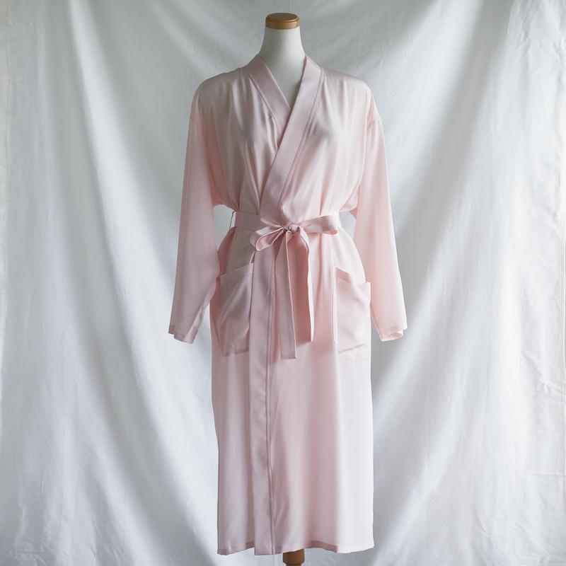 silk ローブ pink