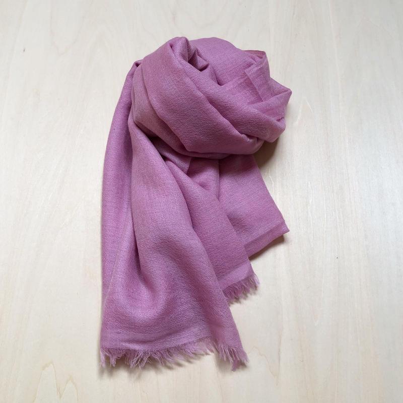 カシミアストール pink