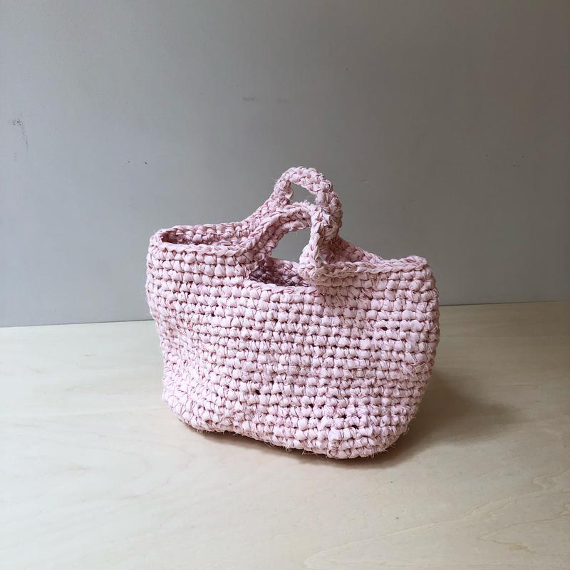 裂き布バッグS      pink