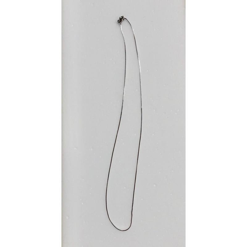 シルバーネックレス、プレーン   46cm