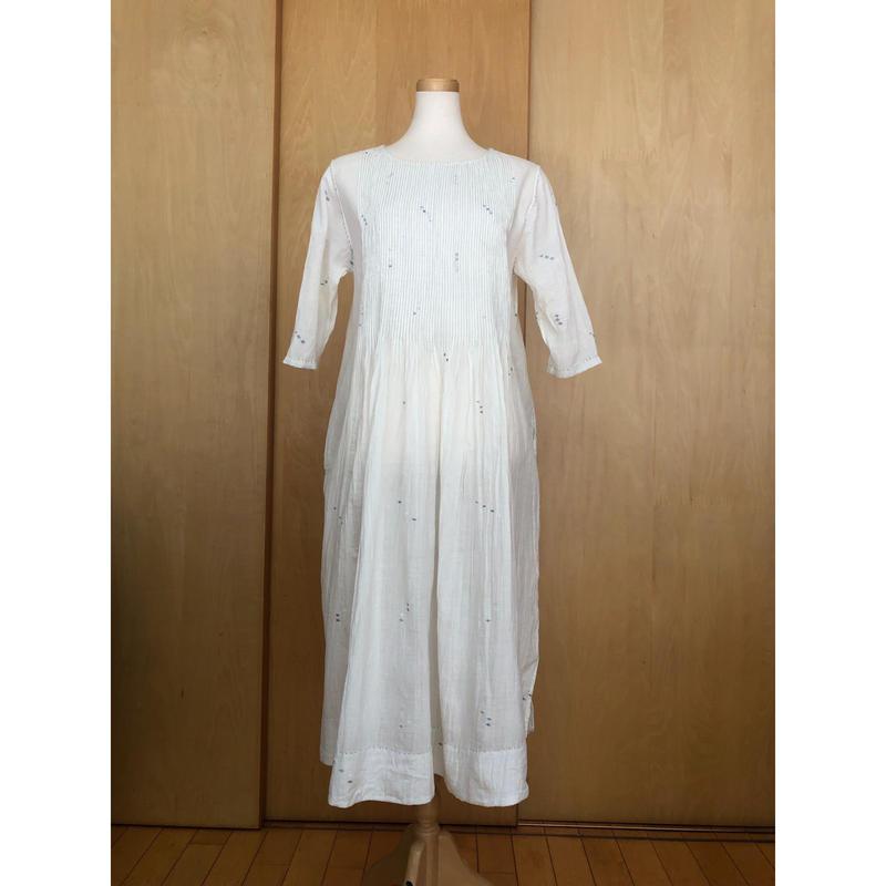 MAKU  ジャムダニピンタックドレス  M