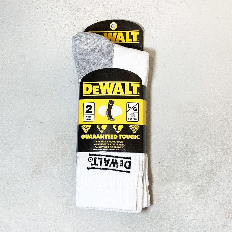 DEWALT デウォルト Socks ホワイト