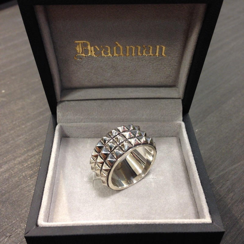 deadman studs ring wide band