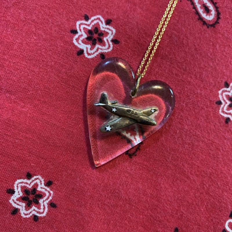vintage heart necklace J/1