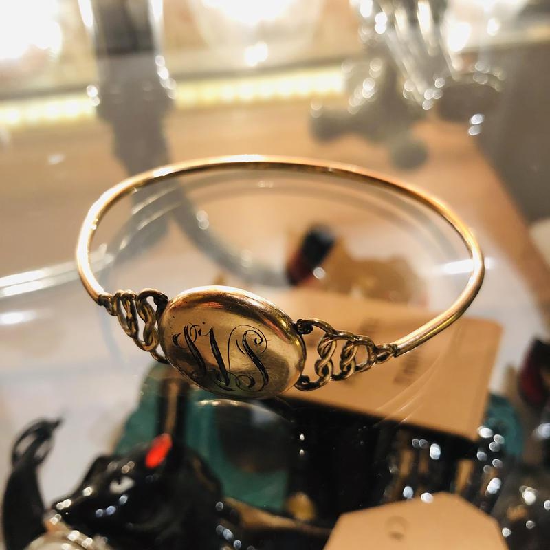 vintage locket bracelet #B/4