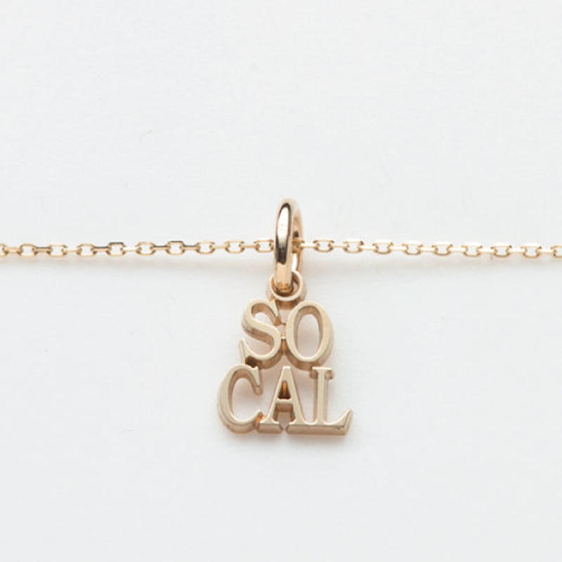text necklace  -SOCAL-