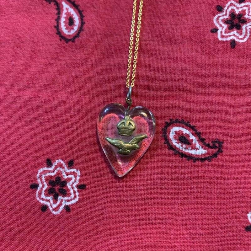 vintage heart necklace #J/3