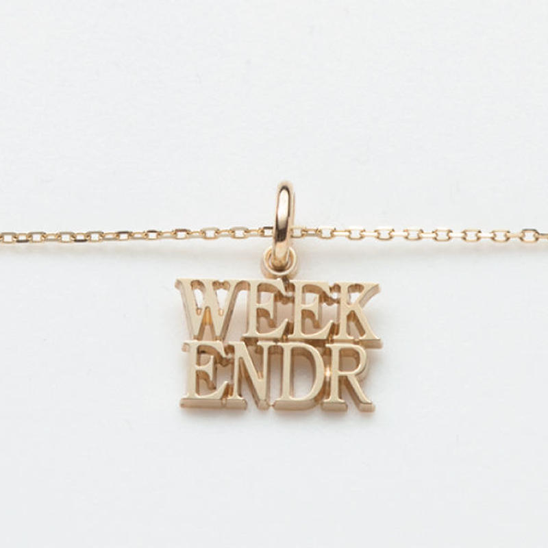 text necklace  -WEEKENDER-