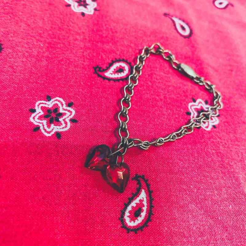 vintage sweet heart bracelet #J/5