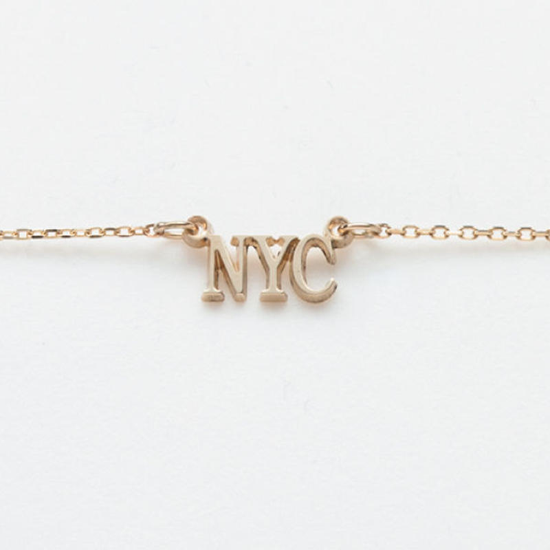 text necklace  -NYC-