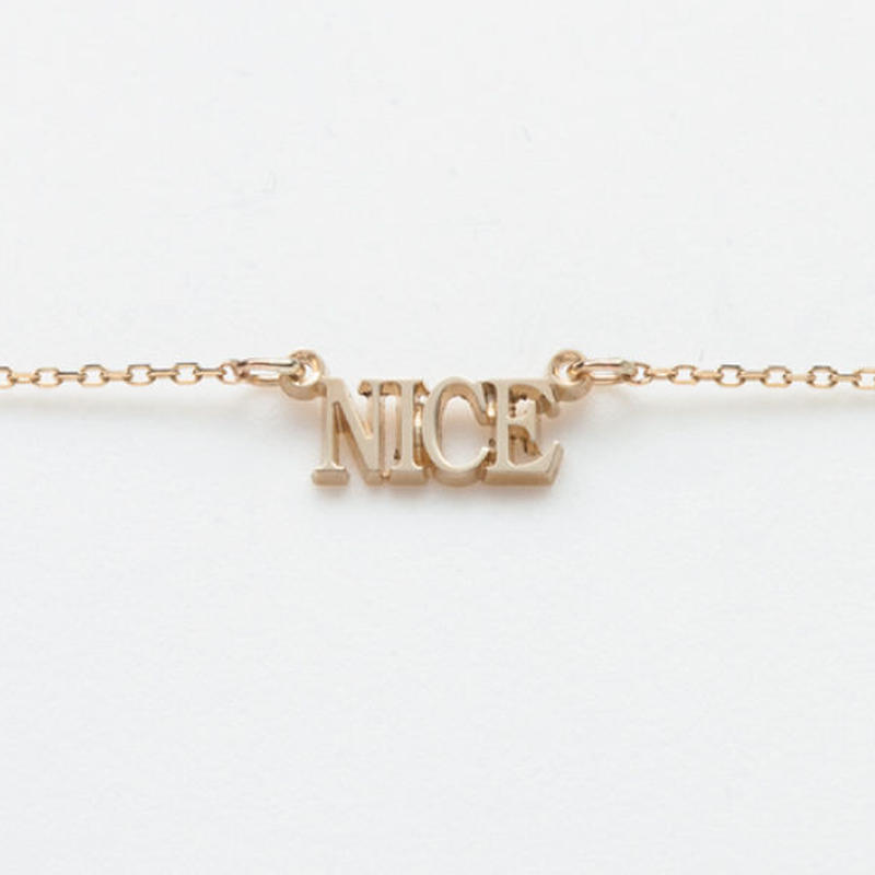text necklace  -NICE-