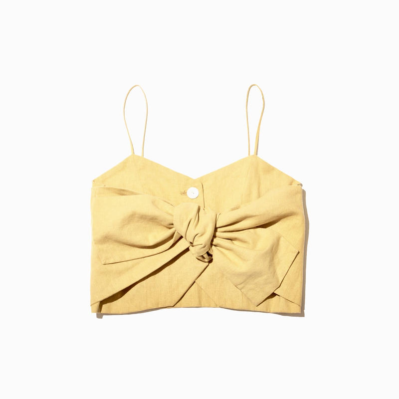 wrapping bustier / banana