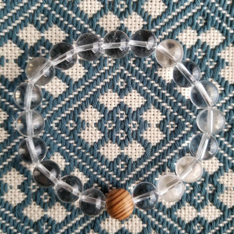 屋久杉×水晶ブレスレット ✡ パワーブレス