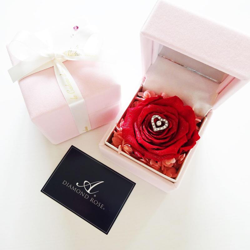 """LUXURY BOX """"Innocent Love"""" ダイヤモンドローズの贅沢なフラワーボックス ☆リングピローにも☆"""