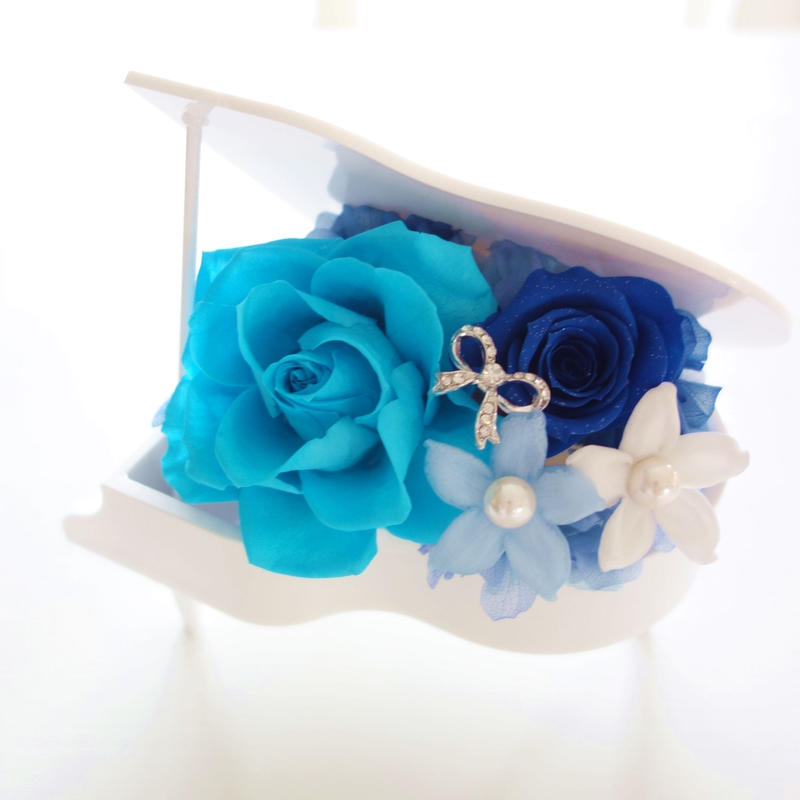 "Design flower  ""neiro""(BLUE) ブルーの音色♪グランドピアノアレンジ  のコピー"