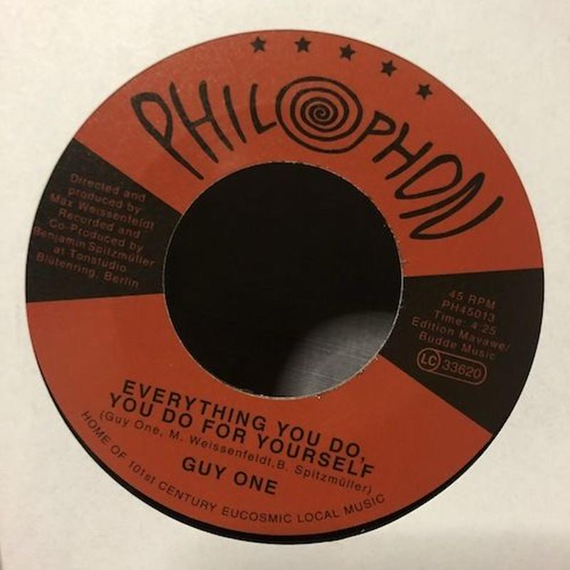 "(7"") GUY ONE / EVERYTHING YOU DO, YOU DO FOR YOURSELF  <afro / world>"