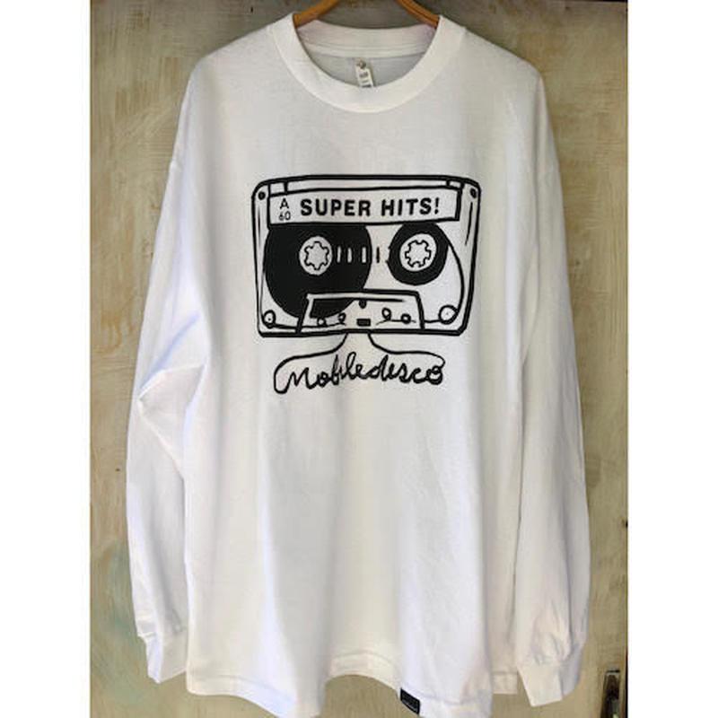 (T-shirts) mobiledisco TAPE L / S Tee -L - / XL-