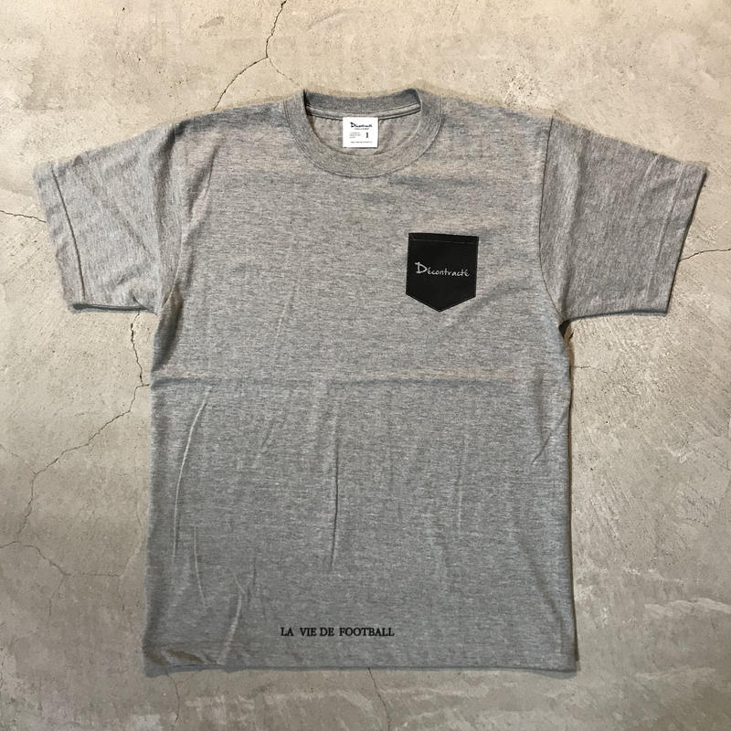 D18013《Pocket Print T shirt》C/# GRAY