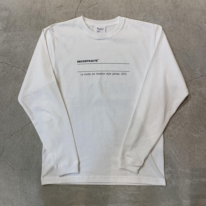 D19001《Message Logo L Tshirt》 C/# WHITE