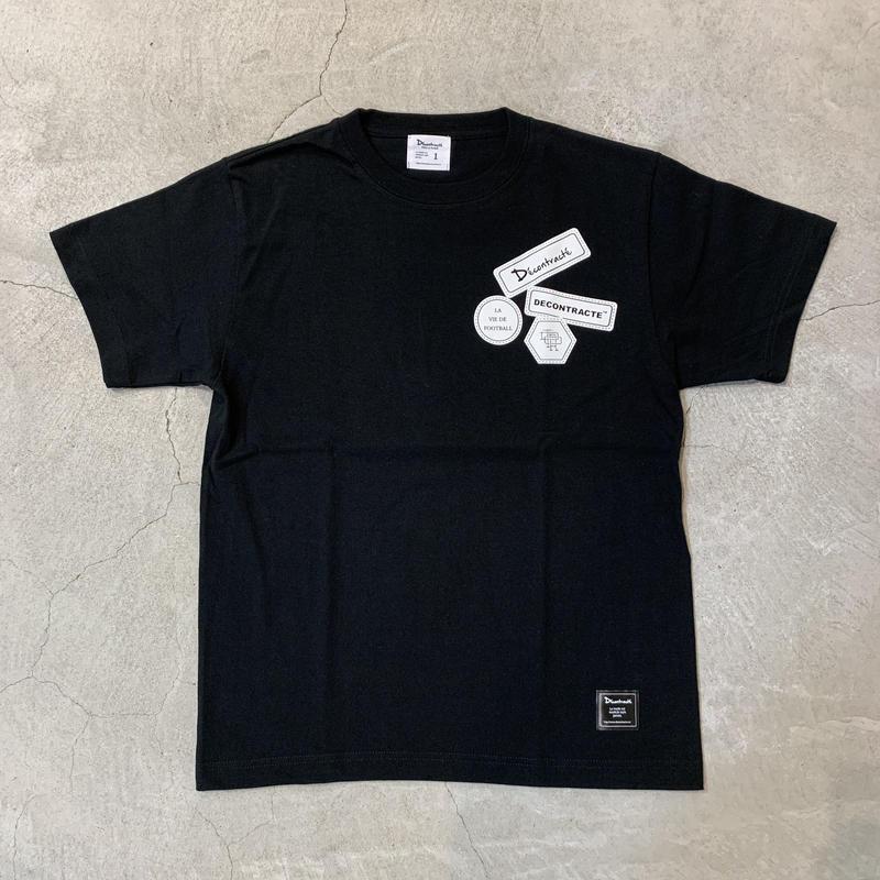 D19007《Wappen Print Tshirt》 C/# BLACK