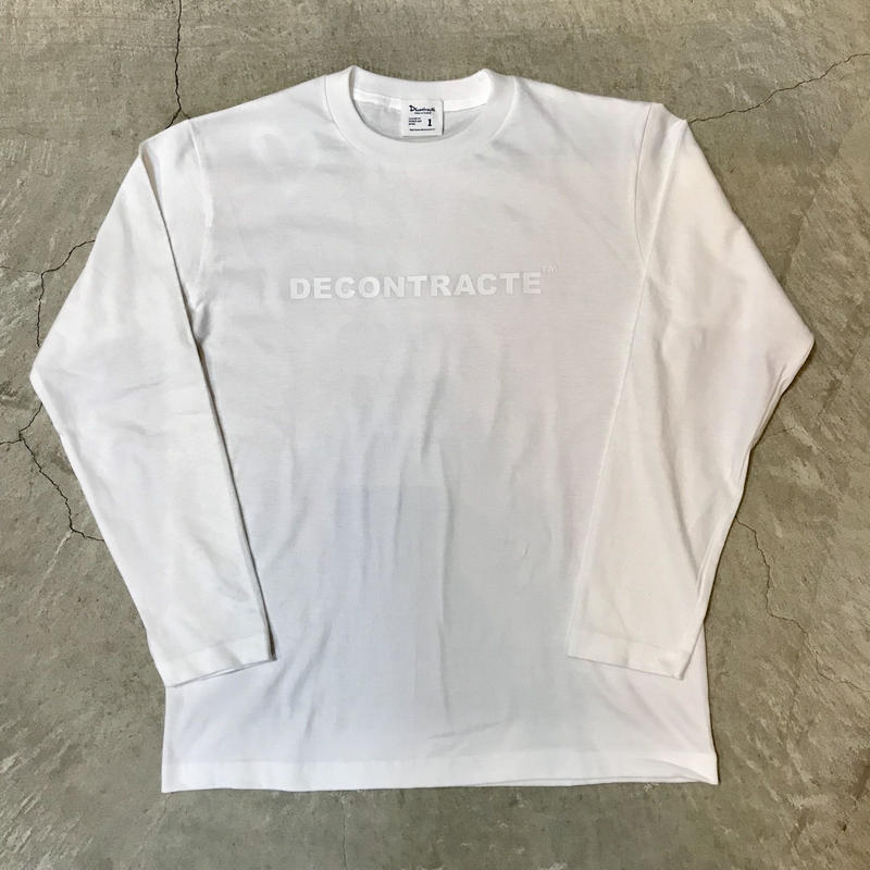 D18005《Logo L Tshirt》C/#  WHITE