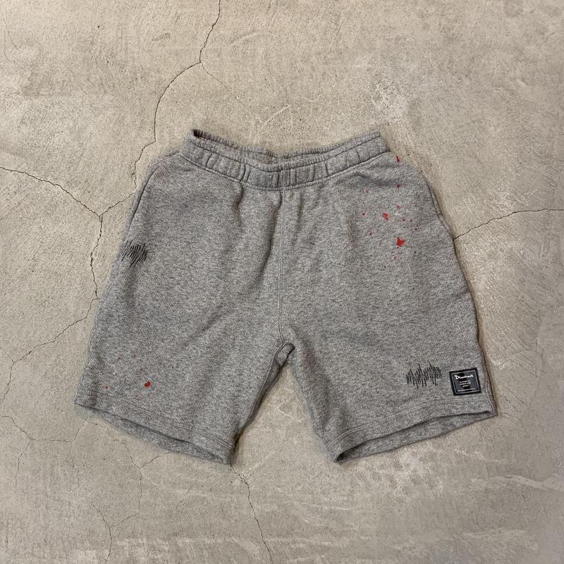 D19009《Paintdamage Sweat Shorts》C/# GRAY