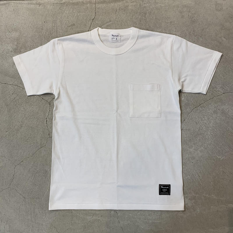 D19008《Pocket Tshirt》 C/# WHITE