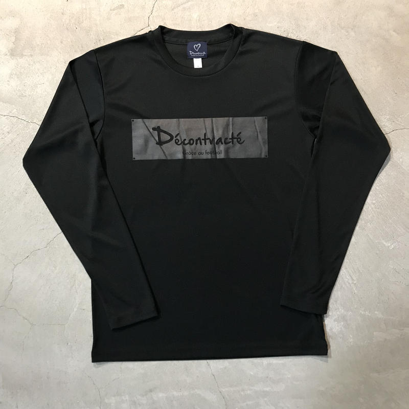D18017《Dry Silky Touch L Tshirt》C/#  BLK×BLK