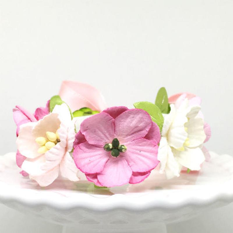花冠「floral  pink・A」【S】サイズ