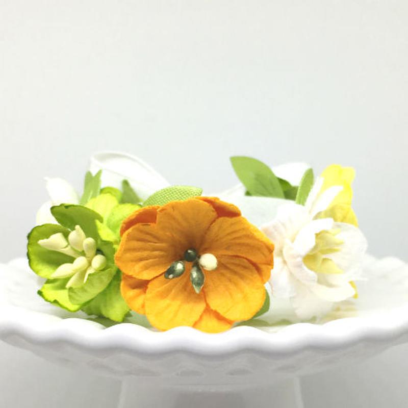 花冠「floral  yellow・B」【S】サイズ