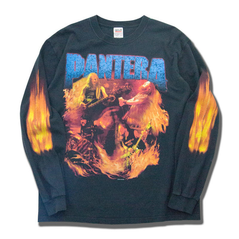 2001's Vintage PANTERA Flames L/S T-shirts パンテラ